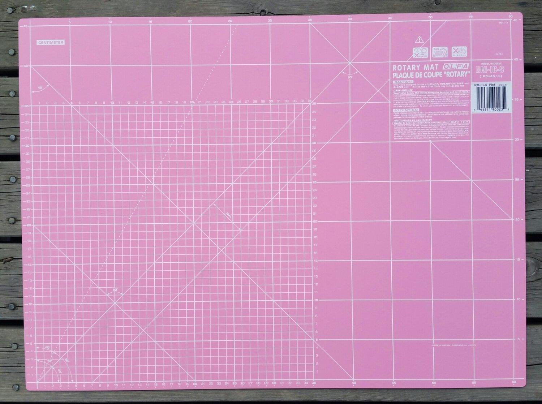Rosa skjærematte 40x60cm Olfa