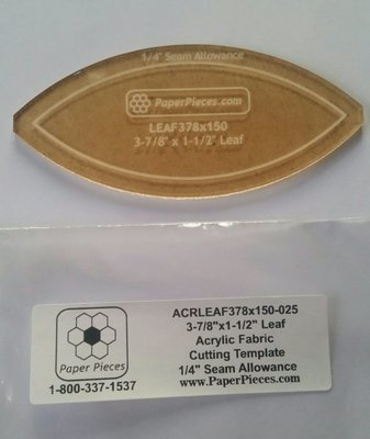 Akryl skjæremal  Leaf  3 7/8 x 1 1/2 inch