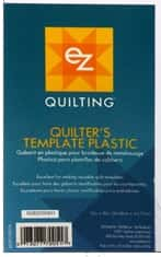 Quilter's template plastic