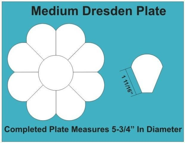 Dresten plate Medium 5 3/4inch 2 blokker