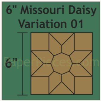 """Missouri Daysy 6"""" 12 stk blokker"""
