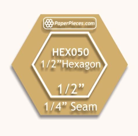 Hexagon 1/2 inch Acryl