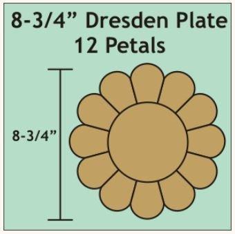 Dresten Plate 8 3/4inch 12 Petal 2 blokker