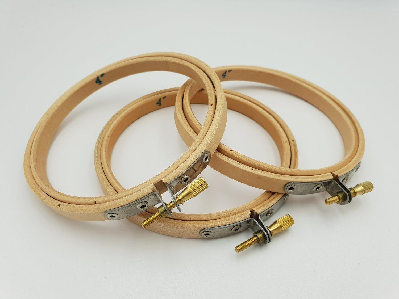 Broderi Ring treverk 10 cm