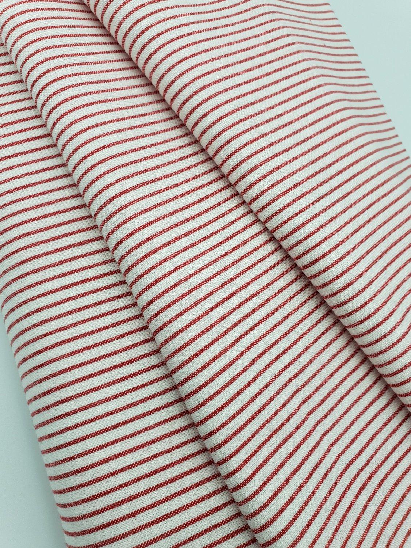 Rød Striper Oxford wowen