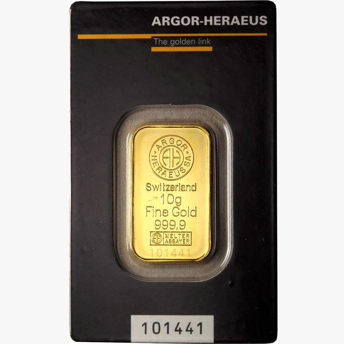 Lingotto di oro 999.99 gr 10 F1