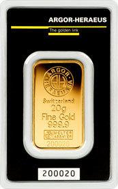 lingotto oro 999.99 gr 20 F2