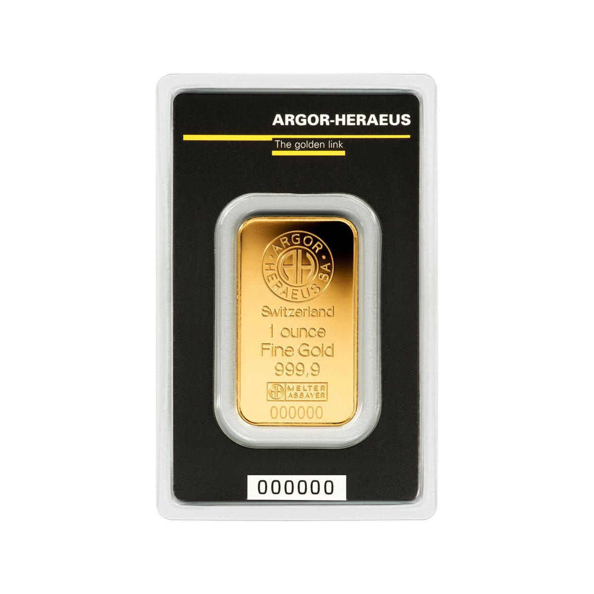 Lingotto di oro 999.99 1 oncia che sono grammi 31.10 F3