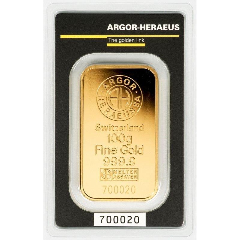 Lingotto di oro 999.99 di grammi 100 F6