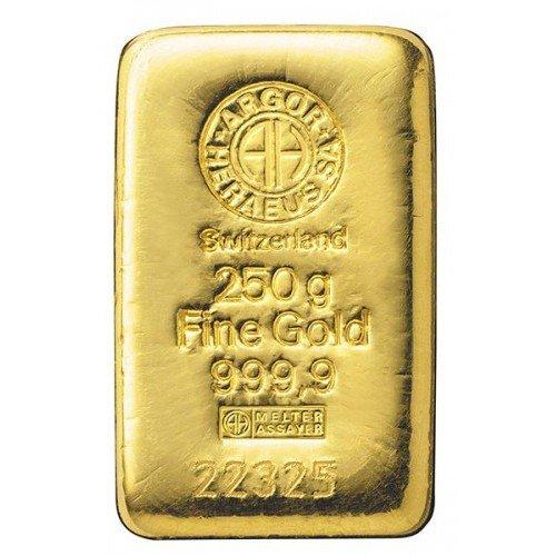 Lingotto di oro 999.99 gr 250 F7