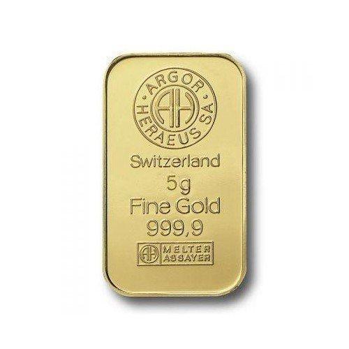 Lingotto do oro 999.99 gr 5 F