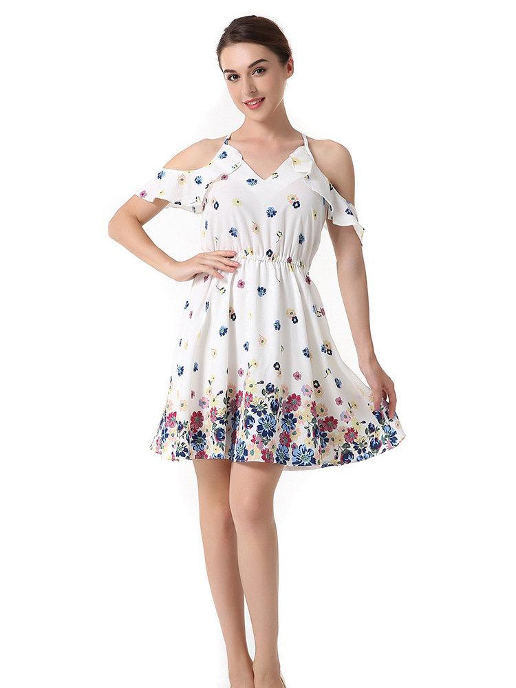 NEW NICOLE's Overjoyed Youthful Style Chiffon Dress