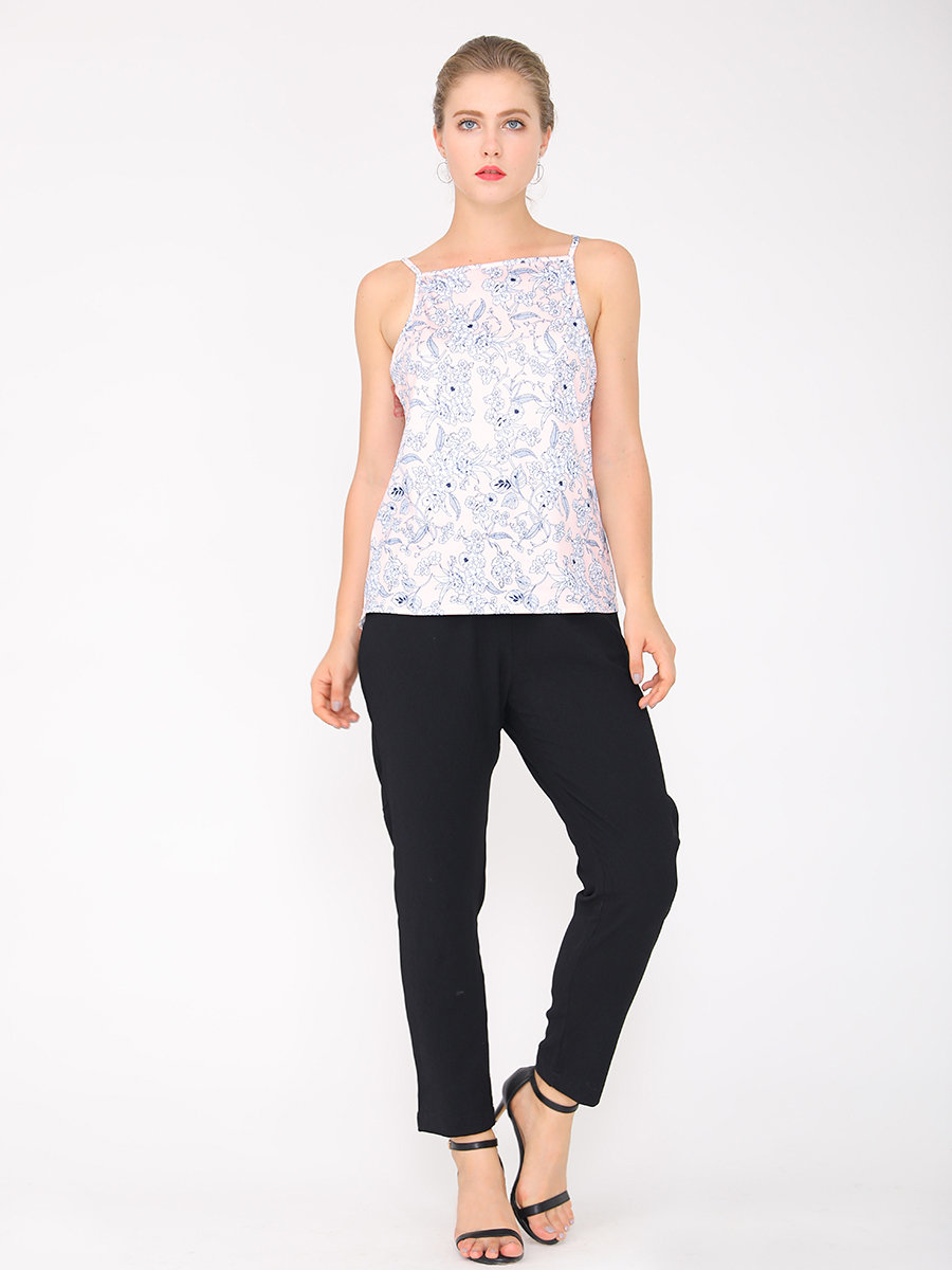 NEW CAROLYN's Refreshing Floral Camisole Top