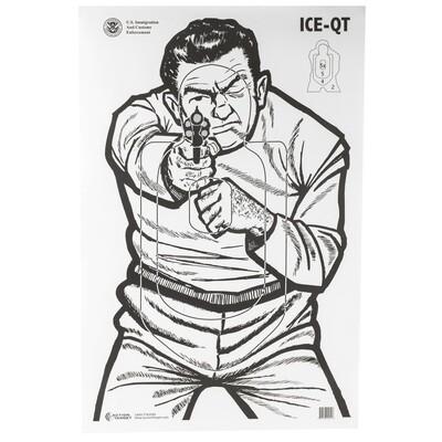 Law Enforcement Action Target 100 pack