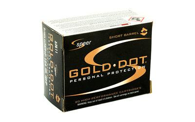 CCI/Speer, Speer Gold Dot, 9MM, 124 Grain, Hollow Point, +P, Short Barrel,  20 Round Box