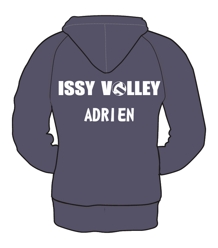 SWEAT-SHIRT ZIPPE HOMME ISSY VOLLEY