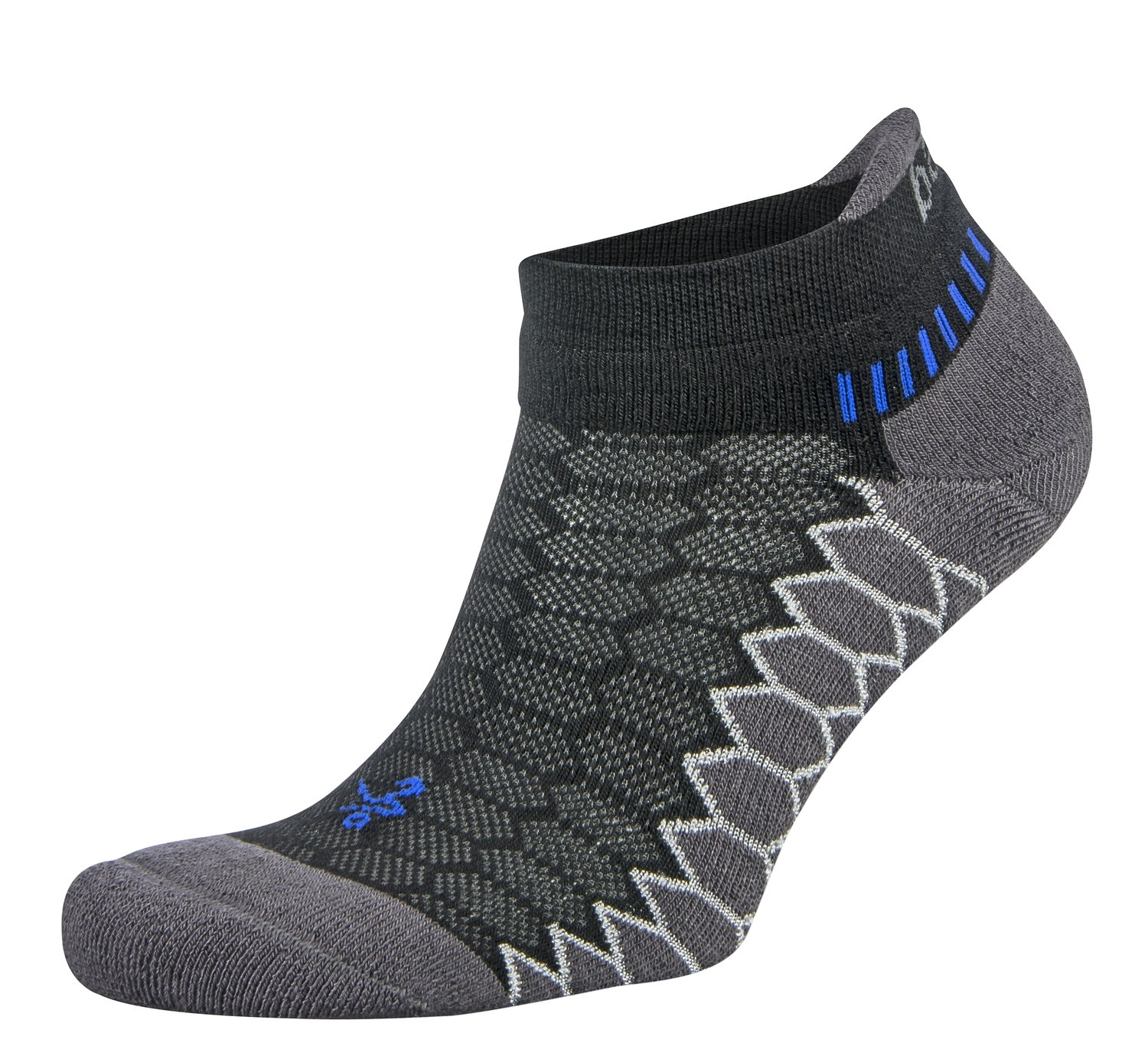 Silver Antimicrobial NoShow Compression Fit Running Socks Black