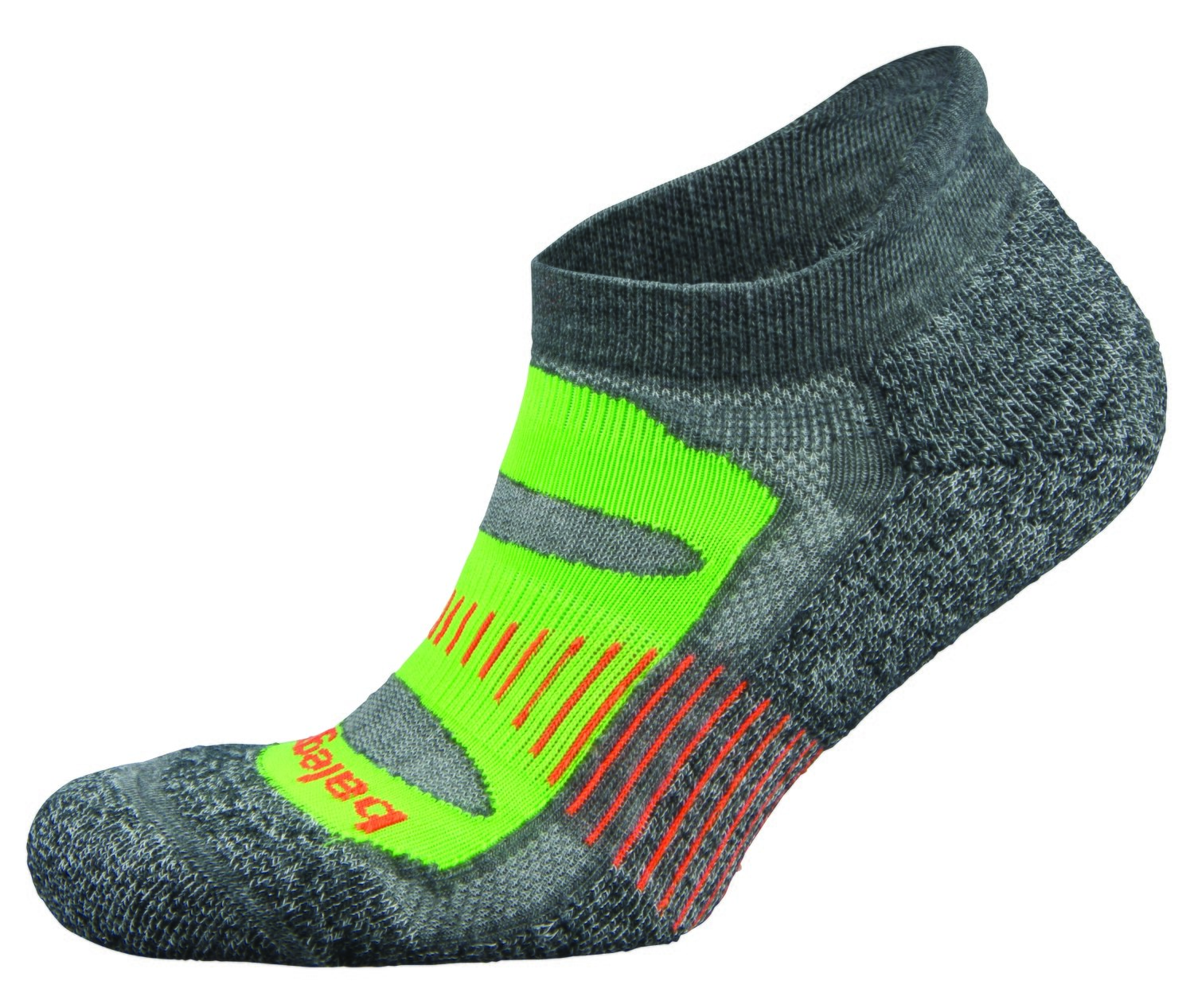 Blister Resist NoShow Sock Lime/Charcoal