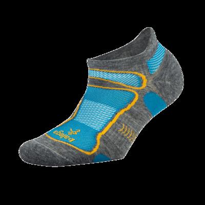 Ultra Light No Show Technical Running Sock - Grey/Aqua