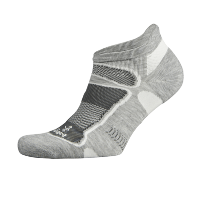 Ultra Light No Show Technical Running Sock - Grey/White