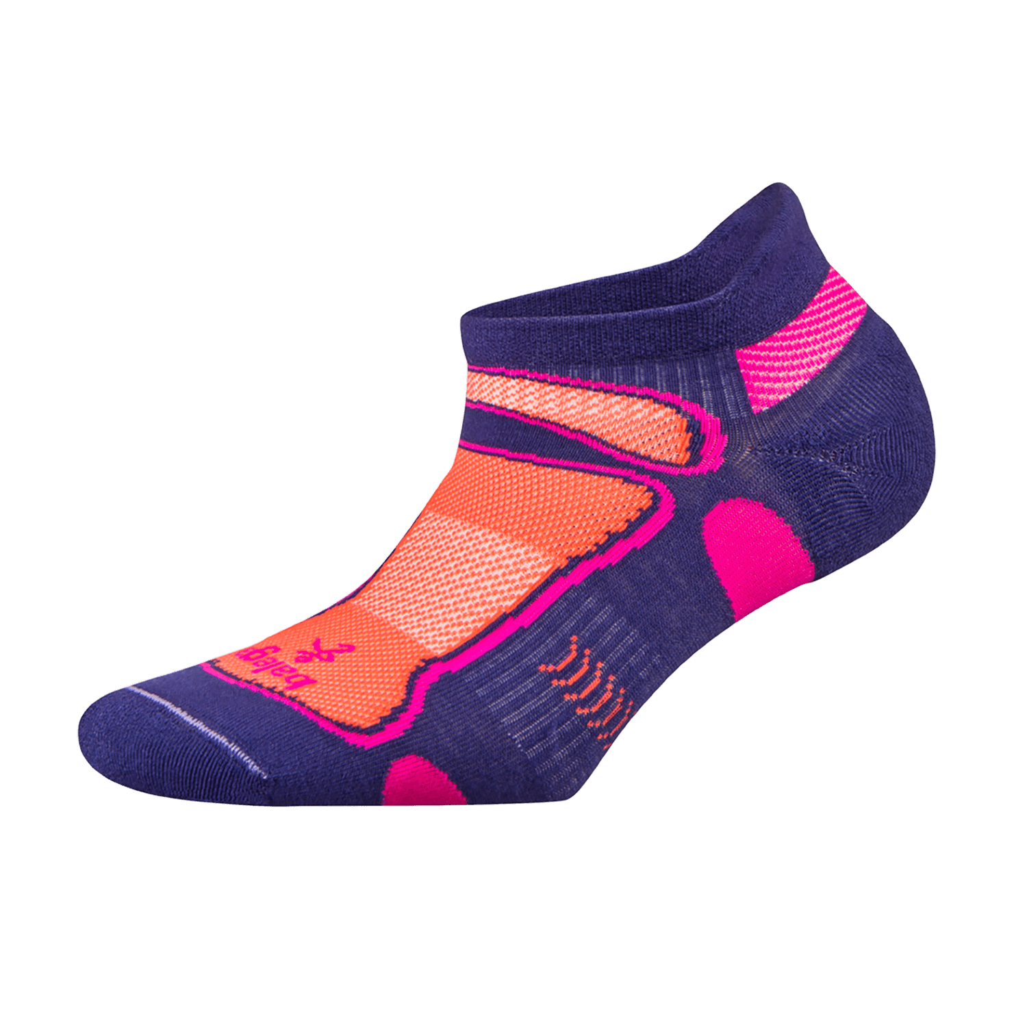 Ultra Light No Show Technical Running Sock - Purple/Neon