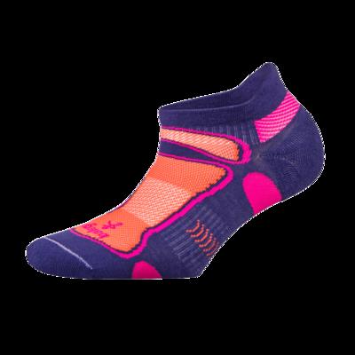 Ultra Light No Show Technical Running Sock - Purple/Neon