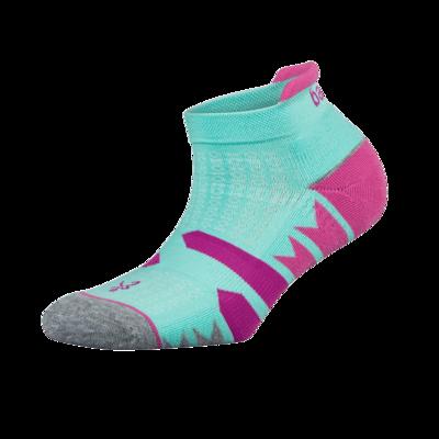 Womens Enduro NoShow Socks Aqua/ Mid Grey