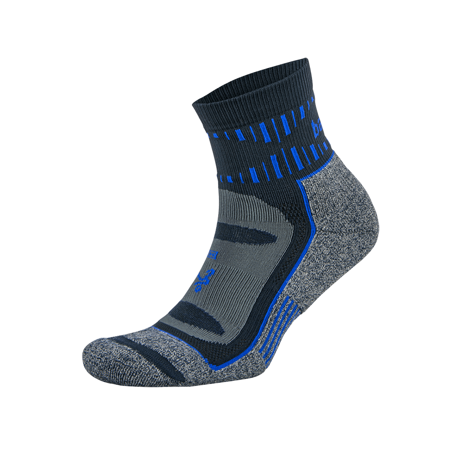 Blister Resist Quarter Running Sock: Ink/Cobalt