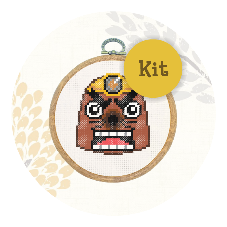 February Special! Cross stitch kit - Resetti