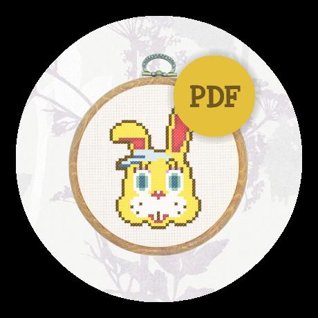 April Special! Cross stitch pattern - Zipper T Bunny