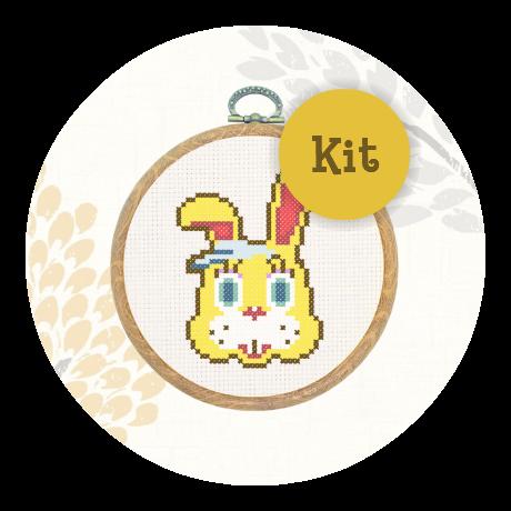 April Special! Cross stitch kit - Zipper T Bunny