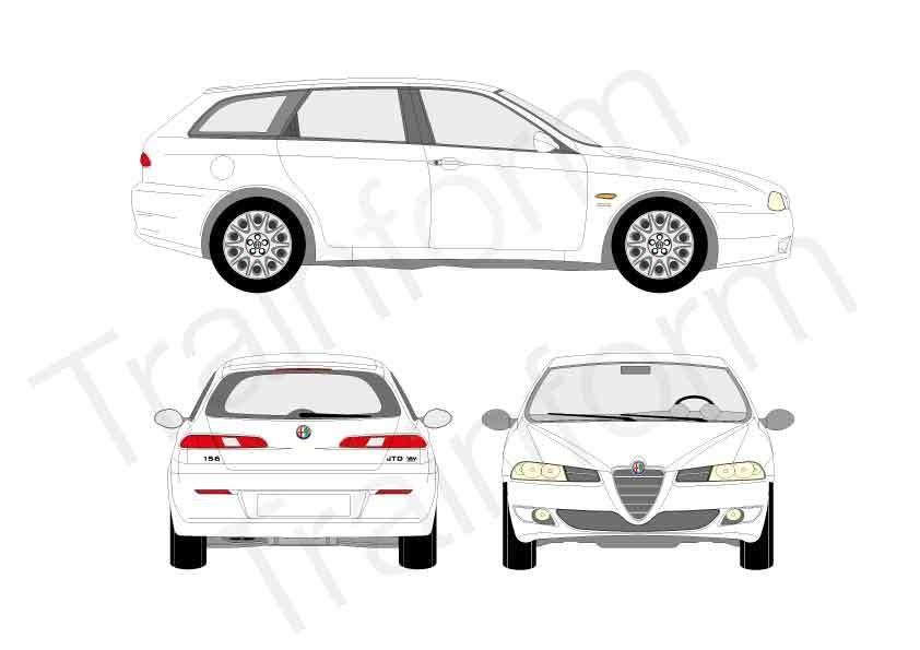 Kit Pellicole 3M Alfa Romeo 156 Sport Wagon