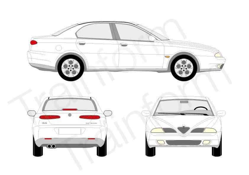 Kit Pellicole 3M Alfa Romeo 166