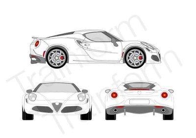 Kit Pellicole 3M Alfa Romeo 4C