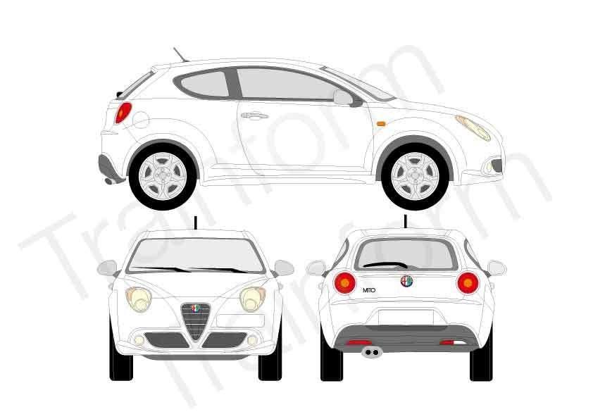 Kit Pellicole 3M Alfa Romeo Mito