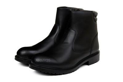 Кожаные меховые ботинки