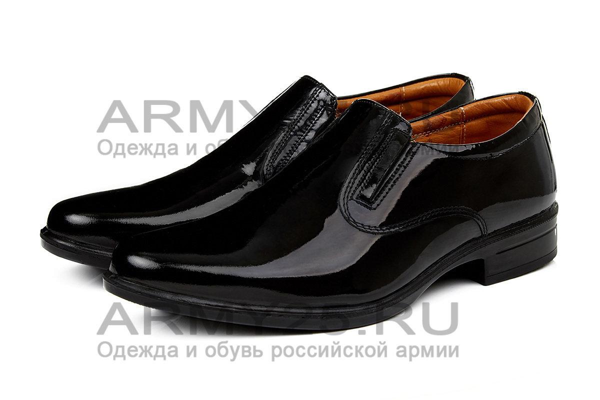 Военные туфли лаковые