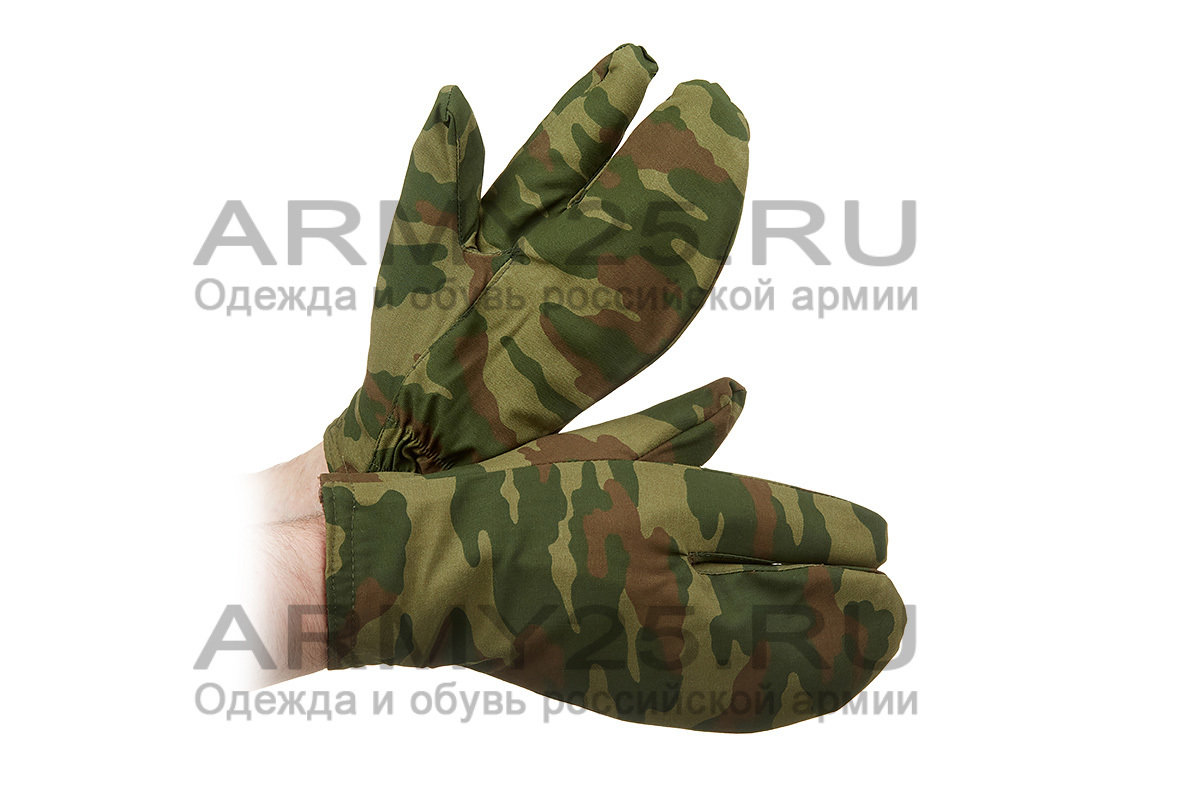 Рукавицы военные с тёплым покрытием внутри