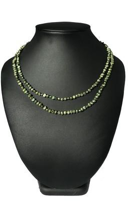 Dupla zöld nyaklánc- édesvízi igazgyöngy