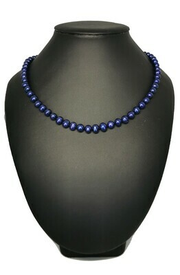 Király kék nyaklánc - édesvízi igazgyöngy