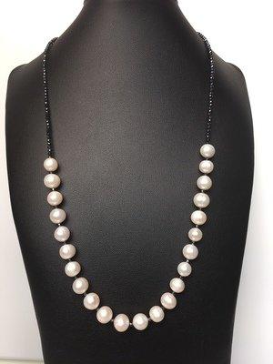 Fehér csillogás - édesvízi tenyésztett gyöngy nyaklánc