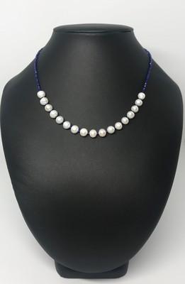 Kék csillogás - édesvízi igazgyöngy nyaklánc