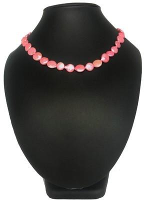 Rózsaszín párduc nyaklánc- édesvízi igazgyöngy