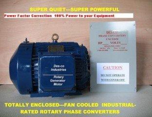 60HP CNC/EDM Rotary Phase Converter 60A