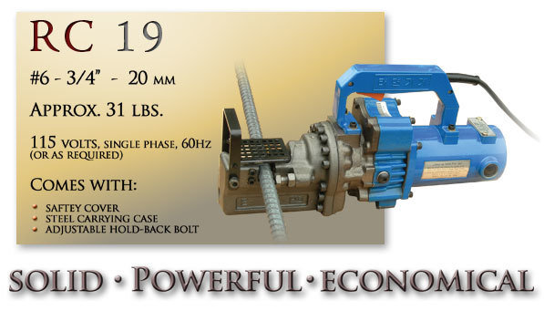 RC 19 Portable Rebar Cutting Tool