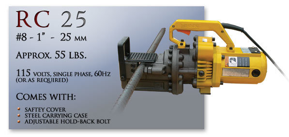 RC 25 Portable Rebar Cutting Tool