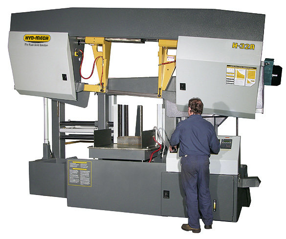 H-32A- Extra Lg. Capacity Dual Post Horizontal Band Saw