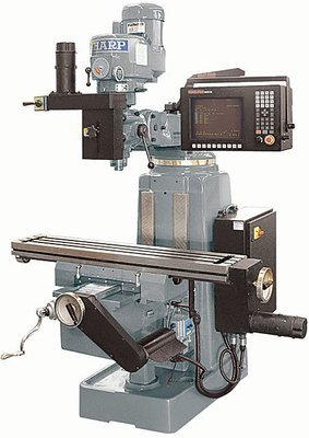 LMV-50/ALM 3 Axis CNC Knee Mill With Anilam 3000M CNC Control