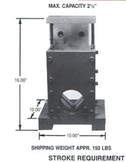 No. 3000 Cut Off Die - for square tubing