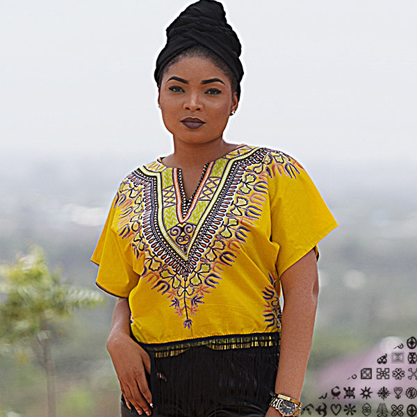 Dashiki Crop Top with Fringes